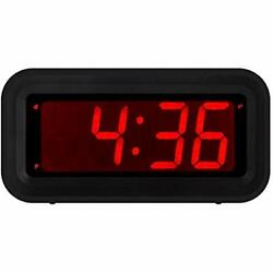 LED Alarm Clocks Digital Battery Operated Only Small For Bedroom/Wall/Travel Big
