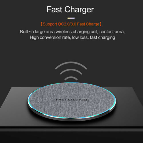 US 15W Qi Wireless Charger Charging Pad Mat For i Phone 11 1
