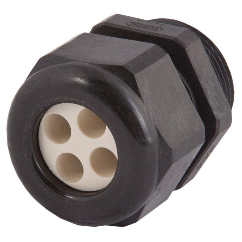 "CD21N1-BK, Hummel,  3/4"" NPT Dome 4 Hole .24"" (6 Mm) Insert Cord Grip, Lot of 10"