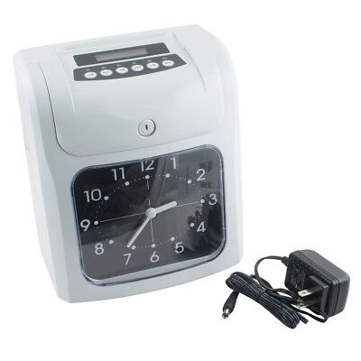 Usa Lcd Analogue Electronic Time Recorder Clock Employee Office Use