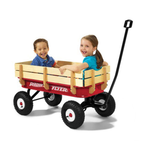 Radio Flyer Full Size All Terrain Classic Steel and Wood Pul