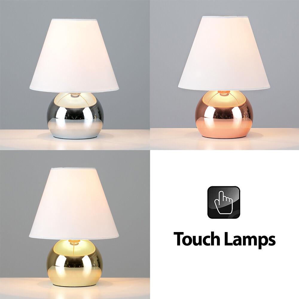 Modern Touch Dimmer Bedside Table Lamps Led Light Bulb