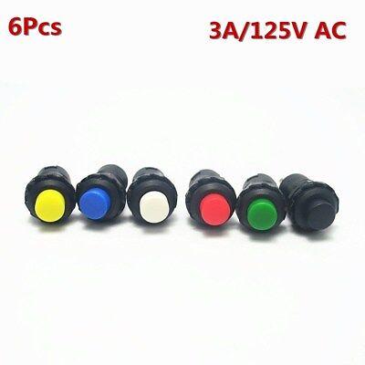 6pcs Momentary Self-lock Push Button Round Mini Toggle Switch Wonderful Onoff