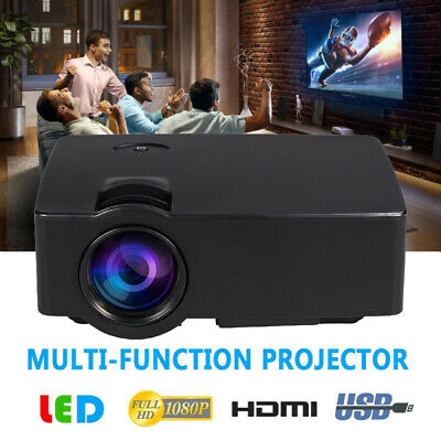 1080P Full HD LED 3D 4K VGA HDMI USB 2000 Lumen Home Theater Projector Cinema HT