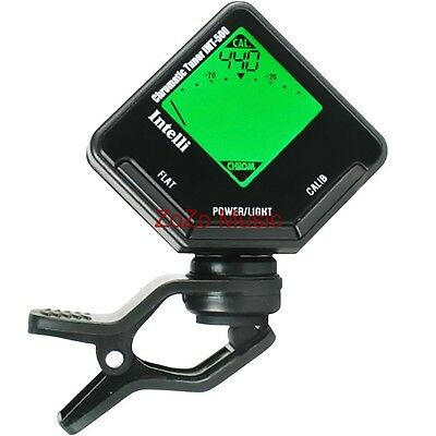 NEW INTELLI IMT-500 CLIP-ON CHROMATIC INSTRUMENT TUNER IMT500 +FREE SHIPPING