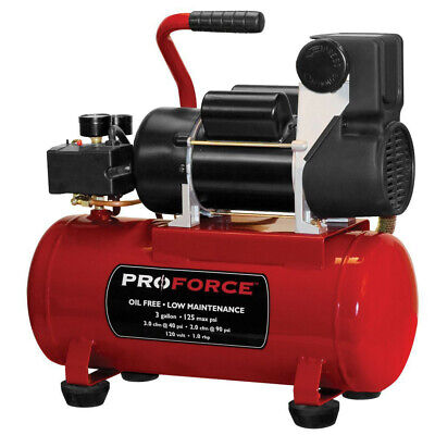 Proforce3 Gal. Oil-free Hot Dog Air Compressor W Kit Vpf1080318 New