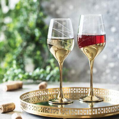 6 Stück 350 ml Celeste Golden Ring LUMINARC (Weinglas Ringe)
