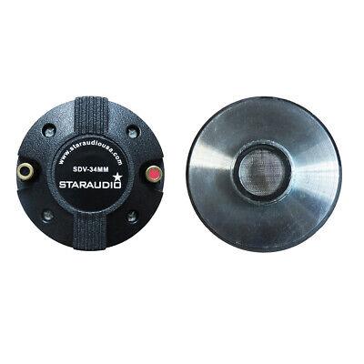 """STARAUDIO 2Pcs 2000W Titanium Compression 1.35"""" Screw-On Hor"""