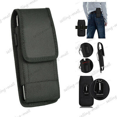 """4.7"""" 5.5"""" 5.8"""" Large Phone Vertical Holster Belt Clip Pouch Carrying Case Cover"""