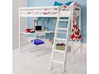 Noa and Nani high sleeper cabin bed with desk.