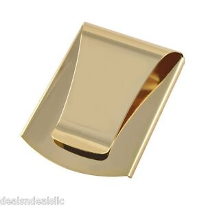 Gold Slim Clip Double Sided Money Clip & Credit Card Holder Wallet As Seen On TV