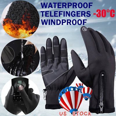 (Unisex Winter Thermal Waterproof Windproof Sport Cycling Ski Gloves Touch Screen)