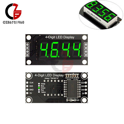 0.36 Tm1637 7-segment 4-bit Tube Led Green Digital Display Module For Arduino