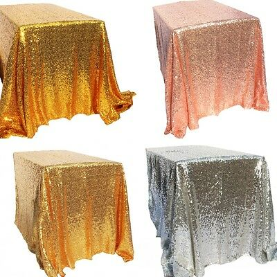 4Colors Sparkly Sequin Tablecloth 100x150cm Wedding Event Party Banquet Supplies](Banquet Supplies)