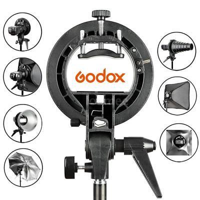 PRO Godox S-Type Bracket Bowens Mount Holder for Snoot Speedlight Flash Softbox