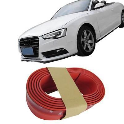 Frontspoiler Gummilippe Spoiler Lippe Gummi Flexibel Rot für viele Fahrzeuge