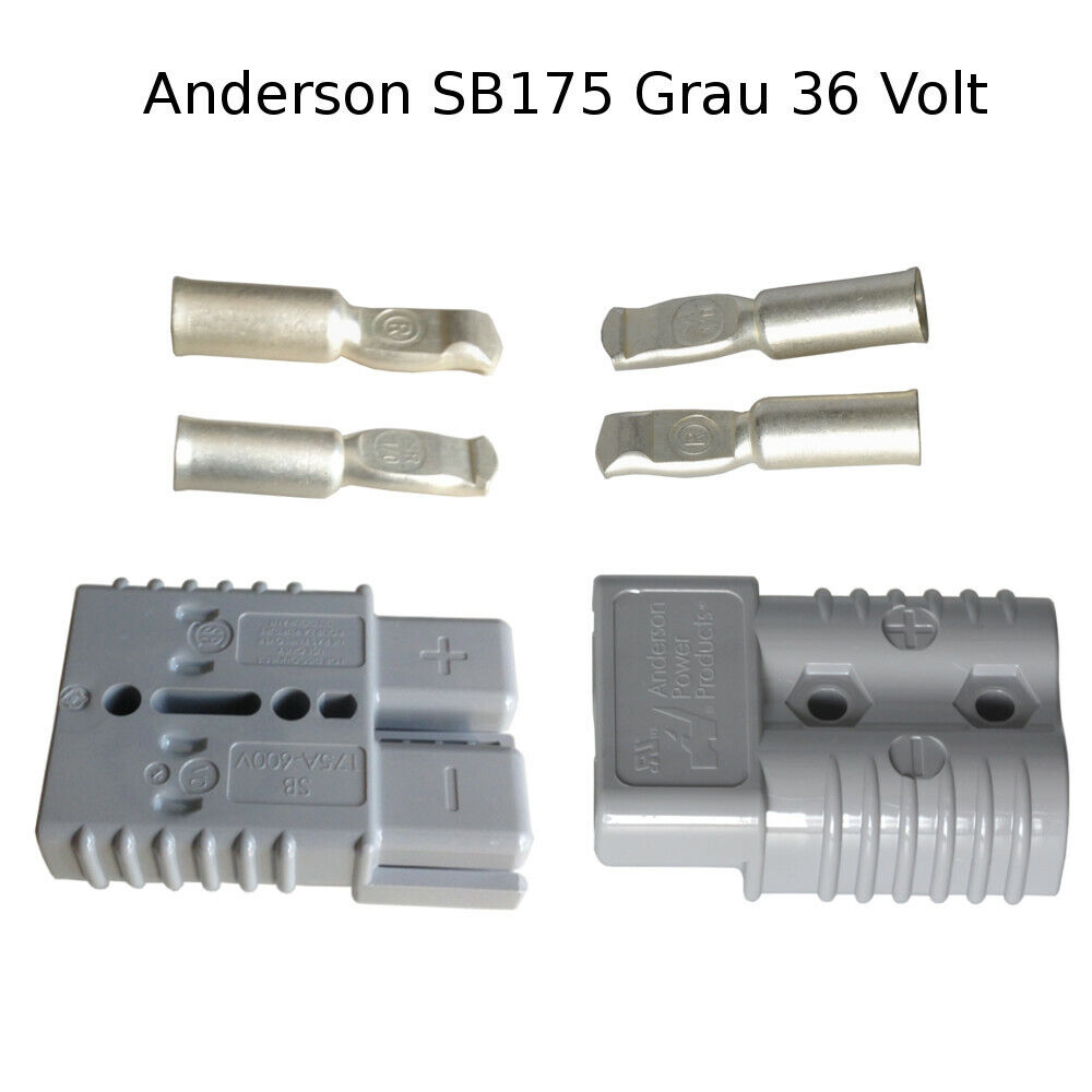 1pc x 1.25-16mm2 Anderson connector plug Crimper 50A 600V Battery Cable Crimp