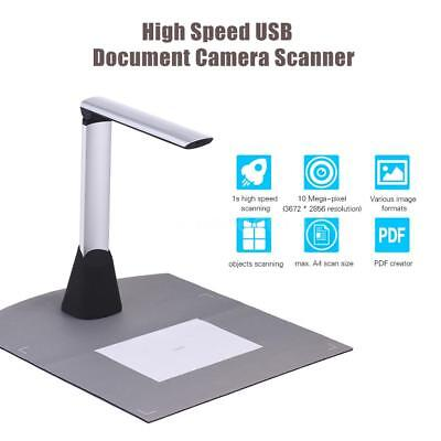 10MP HD Camera High Speed Scanner A4 Document Photo Book ID