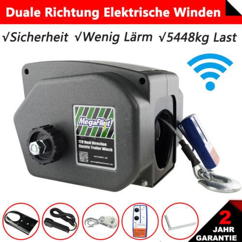5448KG Elektrische Seilwinde 12V Funk Motorwinde Bootswinde 12 Volt Seilzug