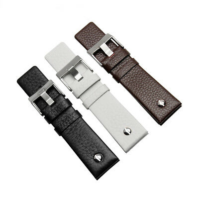 New Quality Genuine Leather Replacement Watch Strap Band Fits Diesel Watch  (Diesel Leather Band Watch)