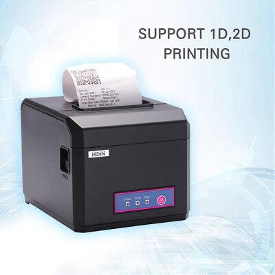 Hoin 80mm & 58mm POS Dot Receipt Paper Barcode Thermal Printer USB+LAN Port
