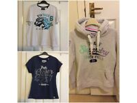 Ladies Superdry Hoodie/T-Shirts (size M)