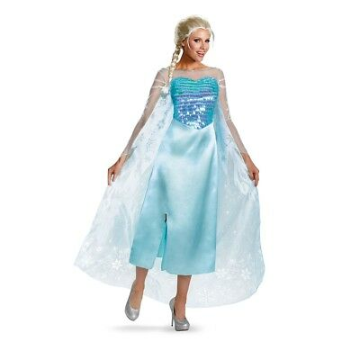 Disney Film Eiskönigin - Erwachsene Elsa Luxus (Erwachsene Königin Elsa Kostüme)