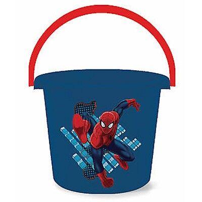 Marvel Spiderman Plastic Easter Halloween or Beach Bucket w Handle NEW