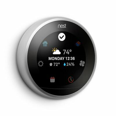 Brand New Nest 3rd Generation Learning Stainless Steel Programmable Thermostat
