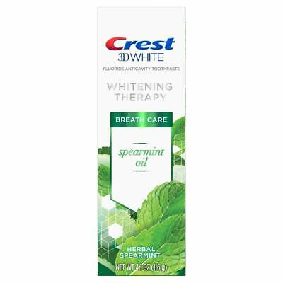 Crest 3D White Whitening Therapy Toothpaste, Spearmint Oil, 4.1 Ounce