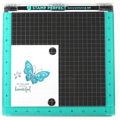 """Brand New Hampton Art STAMP PERFECT DELUXE SIZE 10""""x10"""" Stamp Positioning Tool"""