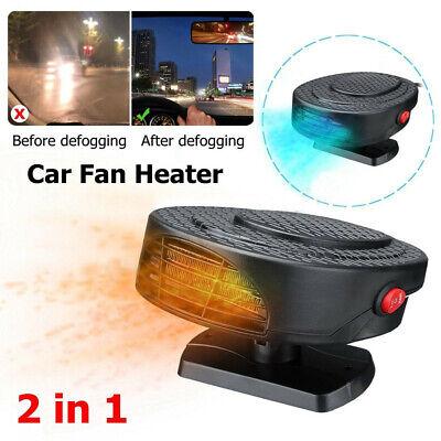 12V Portable Car Heating Fan Warmer Heater Winter In Dash Windshield Demister UK