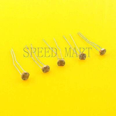 5 Pcs Photoresistor Ldr Cds 5mm Light-dependent Resistor Sensor Gl5516 Arduino