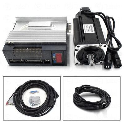 1kw Ac Servo Motor Driver Nema34 4nm Cable Kits  - 10v Analog For Cnc Milling
