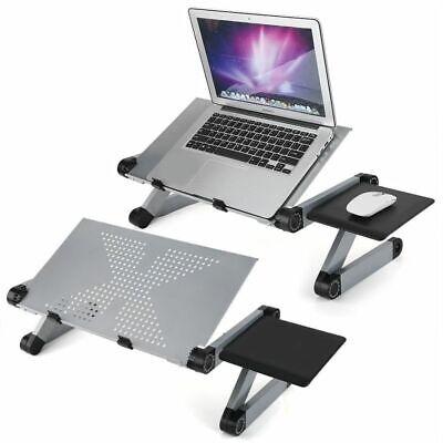 Lap Desk Stand (Portable Adjustable Aluminum Laptop Desk Stand Table Vented Ergonomic TV Bed Lap)