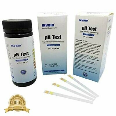 125 Ct Human Body PH Level Test, Best PH Strip For Urine And Saliva, Alkaline