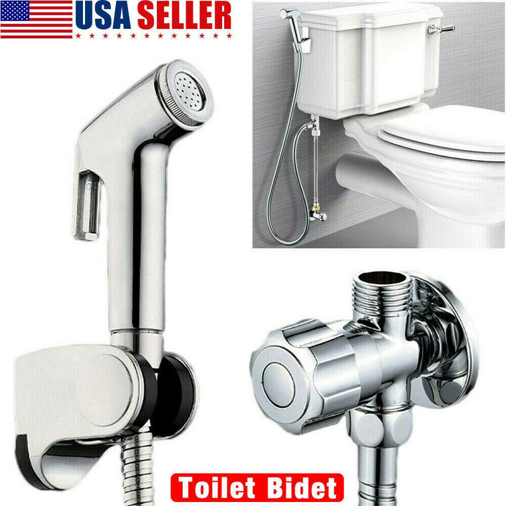 Stainless Steel Toilet Bidet Spray Handheld Shattaf Bathroom Sprayer Shower Head