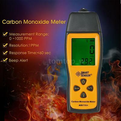 SMART SENSOR LCD Carbon Monoxide Meter Detector CO Gas Tester Monitor 0-1000ppm