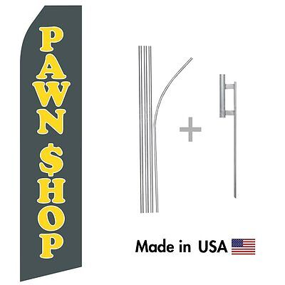 Pawn Shop Econo Flag 16ft Advertising Swooper Flag Kit With Hardware