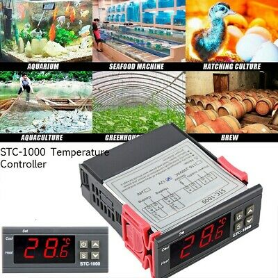 Stc-1000 110v-220v Alarm Temperature Controller Thermostat Aquarium Sensor Us
