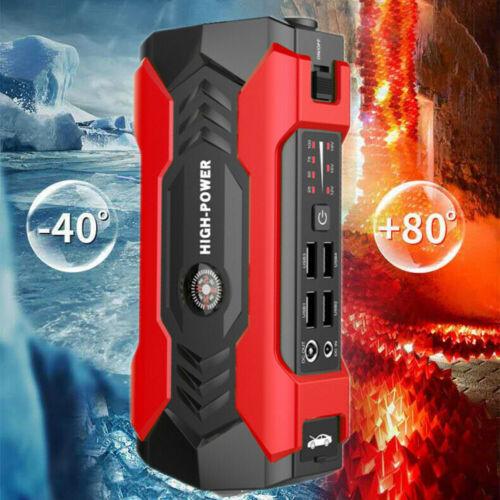 69800mAh 12V Car Jump Starter Portable USB Power Bank Battery Booster Clamp 600A