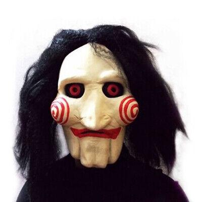 Clown Latex Mask (Creepy Evil Scary Halloween Clown Mask Rubber Latex Jigsaw JIg SAW)