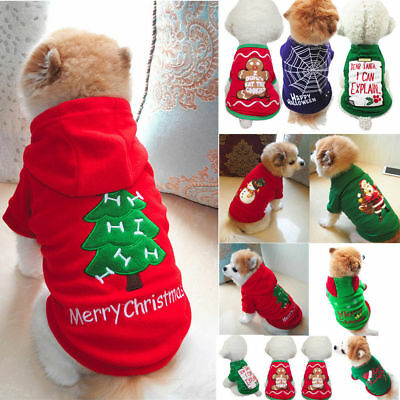 Christmas Pet Vest Dog Puppy Hoodie Sweater Top Xmas Warm Clothes Costume shirt](Christmas Dog Costume)