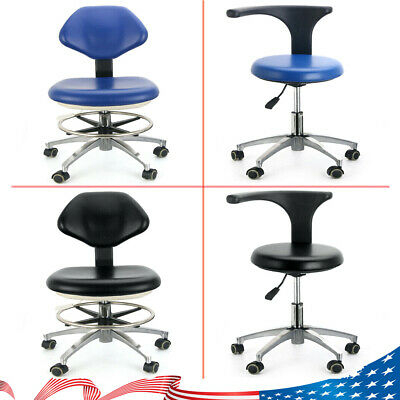 Dental Doctors Assistant Stool Chair Adjustable Height Mobile Chair Pu Leather