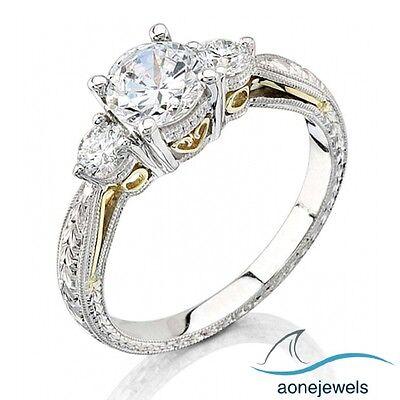 4/5 CT Glamorous !!! Three Stone 4 Prong Setting Engagement