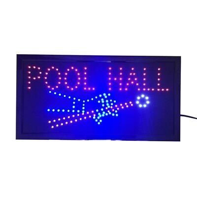 Neon Lights Led Animated Sign Lamp Billiards Pool Hall House Bar Pub 110v