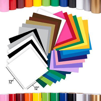 "GreenStar 24-Sheet/6-Color Packs Craft Sign Vinyl, 12"" x 12"", Cricut, Cameo, New"