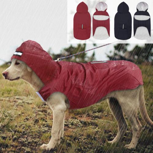 Hund Regenmantel Hundekleidung Regenschutz Wasserfest Reflektierend für Hund 3XL
