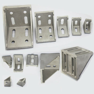 L Shape Profile Right Brace Corner T-slot Aluminum Angle Bracket 2030406080