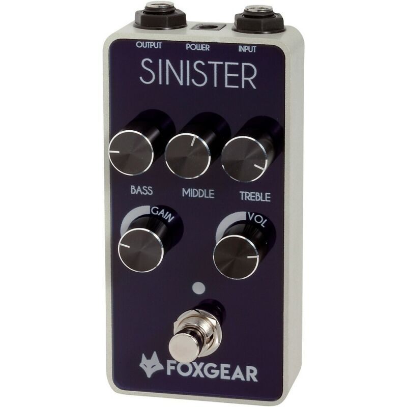 FoxGear Sinister FET Metal Distortion Effects Pedal Black and White